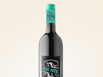 Blue Royal Wine Bottle
