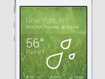 Weathered iPhone App