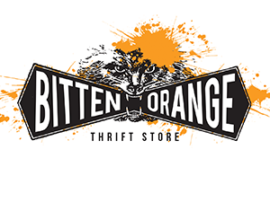 Bitten Orange Thrift Store Logo