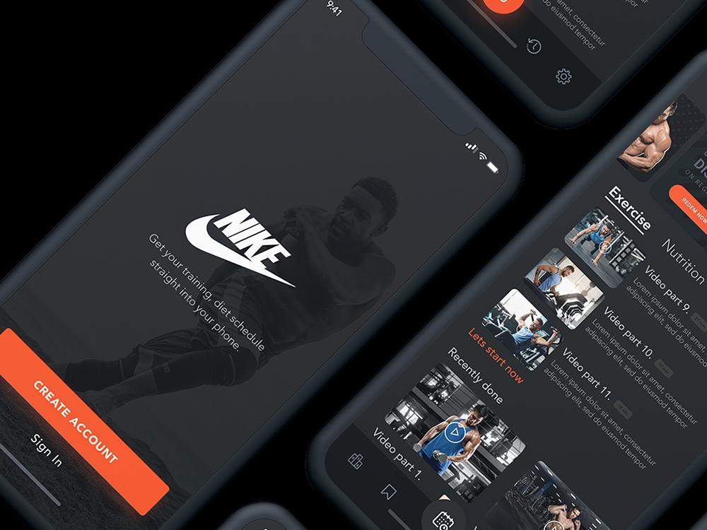 "Nike ""Sessions"" App Design"
